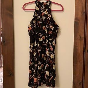 Maurice's Dress black w/ floral multi